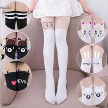 Милые колготки для малышей; детские колготки; чулки до колена из искусственного бархата; белые детские колготки принцессы с рисунком кота; колготки для девочек