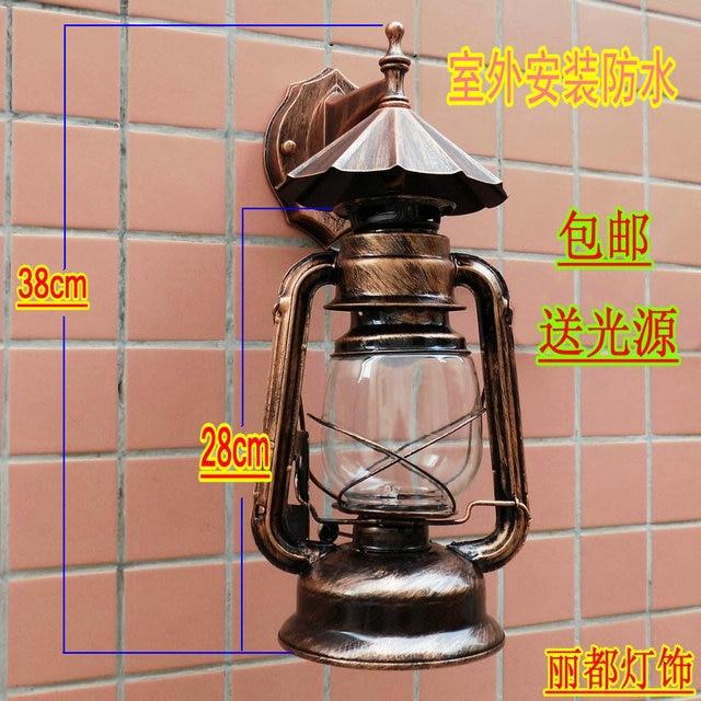 Vintage kerosene lantern wall l& chinese style single head lighting l&s decoration & Vintage kerosene lantern wall lamp chinese style single head ...
