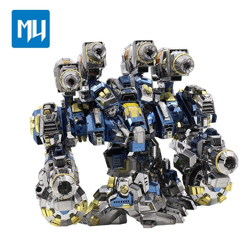 MU 3D Metal Puzzle Raytheon Battlegear Joint Movable DIY Laser Cut Jigsaw Model For Adult Educational