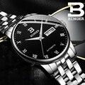 BINGER автоматические механические часы для мужчин Топ бренд класса люкс Бизнес водонепроницаемые мужские часы из нержавеющей стали Relogio ...