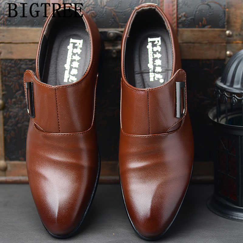 Sapatos de couro de luxo sapatos de couro para homem sapatos de couro masculino