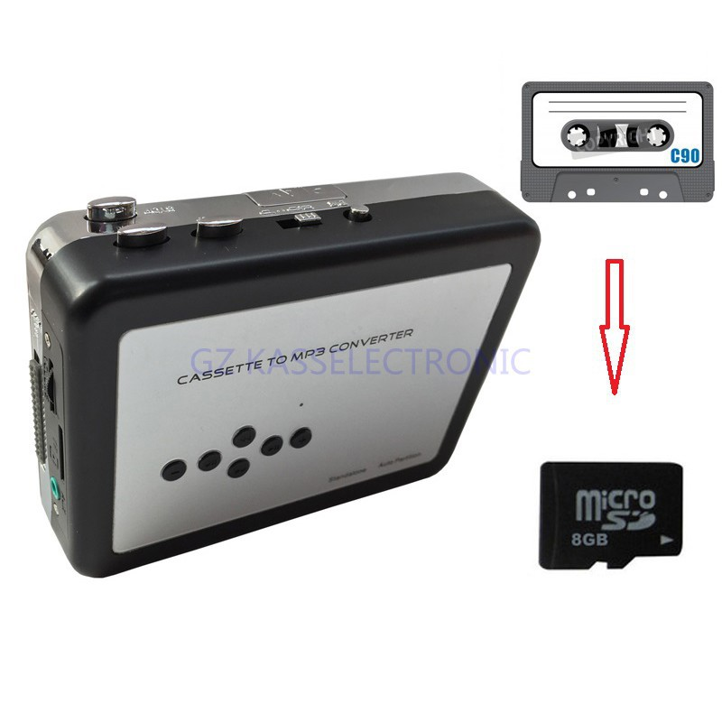 2017 new digitizing video cassettes convert Cassette to MP3 directly into TF Card, no PC required,Free shipping