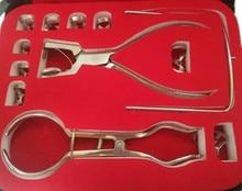1 가방 치과 고무 댐 천공기 펀처 치아 케어 펜치 치과 의사 실험실 장치 장비 장비