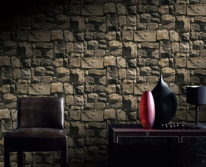 Vintage culture Stone rock wallpapers PVC 3D brick wall paper roll for Walls Vinyl Wallpaper Background 10X0.53m купить