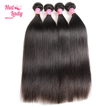 Halo Lady Beauty Hair Products 34 36 38 40 inch Malaysian Straight Human Hair Bundles 4Pcs Lot Non Remy Hair Extensions DHL