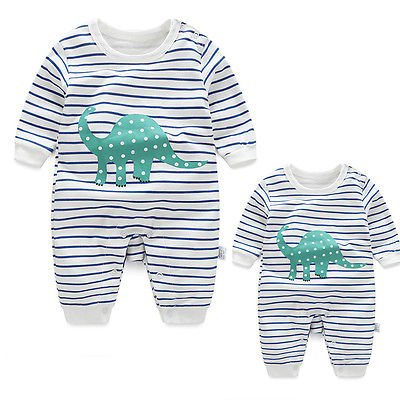 Newborn Baby Boy Girl Kid Dinosaur Romper Jumpsuit Cute Cartoon Clothes Outfit 0-24M lovely baby boy girl toddler newborn kid solid comfy romper soft jumpsuitth002