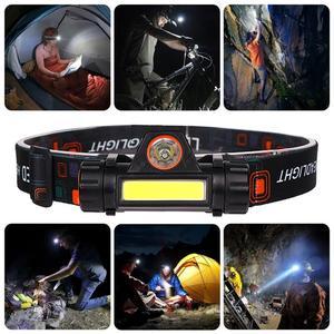 Image 5 - Đèn Pha USB Sạc Đèn LED XPE + COB Đầu Đèn Có Nam Châm Đội Đầu Tích Hợp 18650 Pin Dành Cho Câu Cá, cắm Trại
