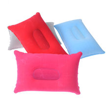Outdoor Portabel Lipat Dilipat Udara Bantal Tiup Bantal Double Sided Berbondong-bondong Bantal Perjalanan Pesawat Camping Piknik Bantal(China)