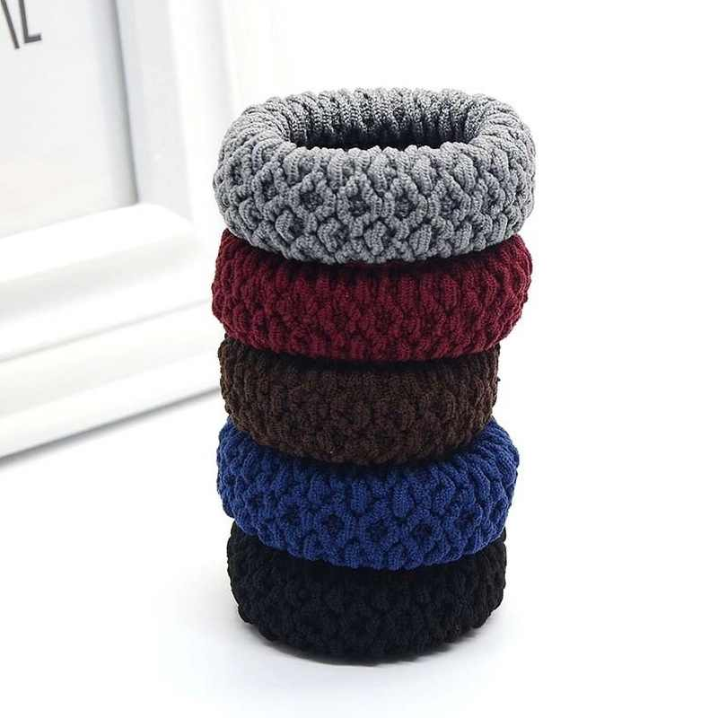 5Pcs New Elastic Hair Bands Strong Gum for Hair Thick Hair Scrunchies Women Holder Tie Gift Hair Accessories
