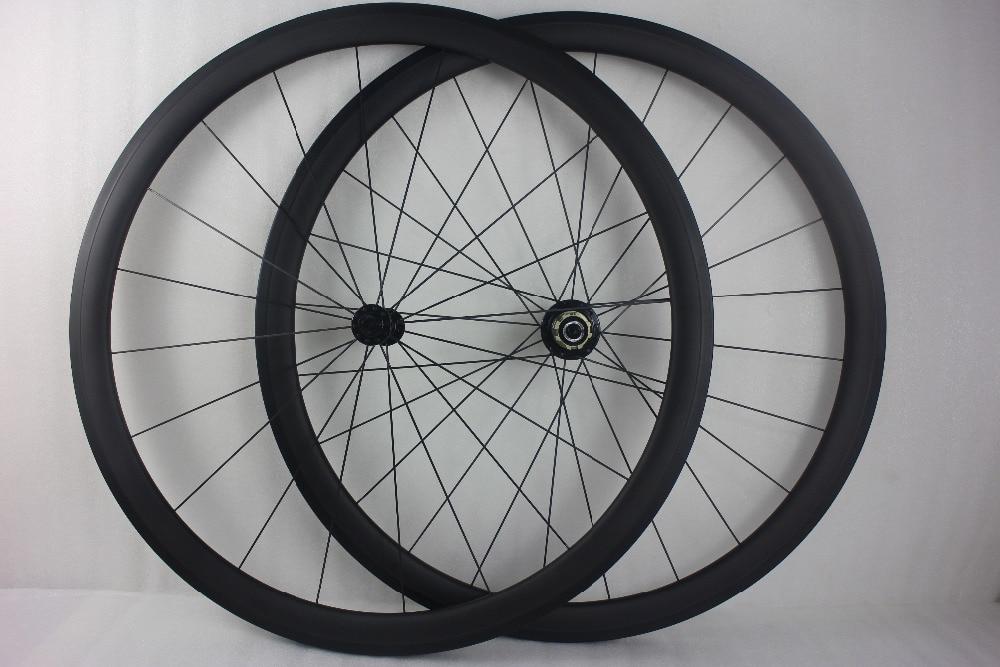 700C 38mm Clincher Carbon Wheels 3K Matte Glossy Bike Road Bicycle Light  Wheels