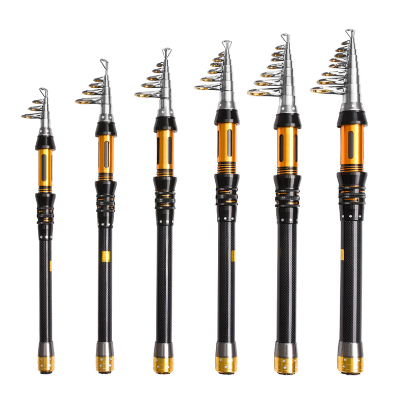 2017 NEW Telescopic Fishing Rod Carbon High Performance Carbon Fiber Carbon Spinning Sea Rod Fishing Tackle Tools free shipping