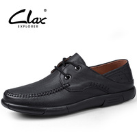 Clax Men Leather Dress Shoes 2017 Spring Autumn Black Formal Shoe Genuine Leather Male Vintage Retro