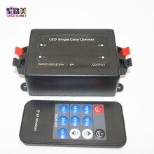 DC12V-24V Mini 11key RF Wireless Remote Brightness Dimmer Switch Controller for 5050 3528 2835 Single Color LED Strip Light Tape
