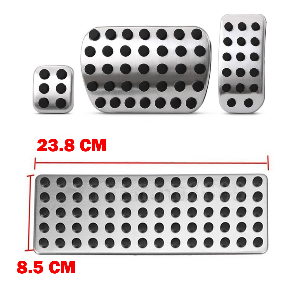 Stainless steel Car Pedal Pads Cover for Mercedes Benz V Class Vito Metris Viano W639 W447 Accessories Car Styling image
