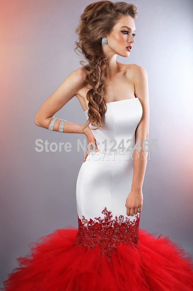red wedding dresses with red Julissa