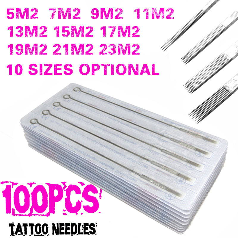 New Tattoo Needles100pcs Double Stacked Magnum Sterilize For Tattoo Machine Sterile Disposable Needles Drop Shipping