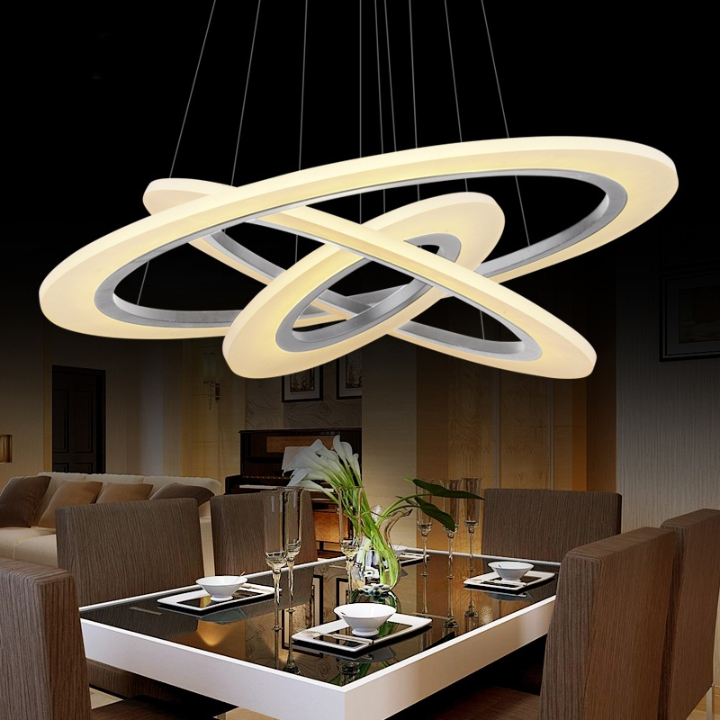 Aliexpress 3 2 1 Ring Acrylic Chandelier Home Furnishing Or Commercial Decorative Lighting 85 265v From Reliable Light Collar Suppliers On
