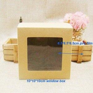 Image 5 - 10*10*10m 3 cores branco/preto/caixa de papel de estoque com janela de pvc transparente. Caixa de embalagem de janela de papel