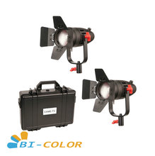 2 Pcs CAME TV Boltzen 30w Fresnel Fanless Focusable LED Bi Color Kit Led video light
