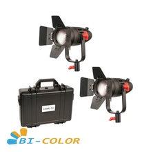 2 pces CAME TV boltzen 30w fresnel fanless focusable led kit bicolor led luz de vídeo
