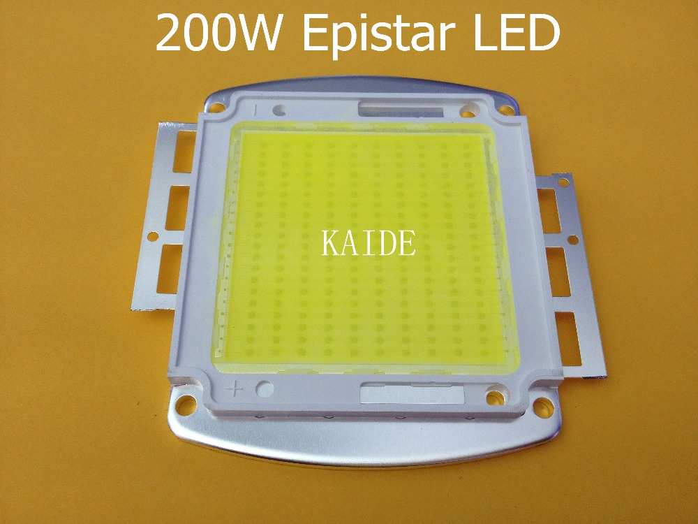 200W led light source TAIWAN Epistar 45*45mil led chips 120-130lm 10S20P input DC30-36V 6000MA pure gold line copper substrate 200w 6500k 16000lm led emitter cool white light plate dc30 36v