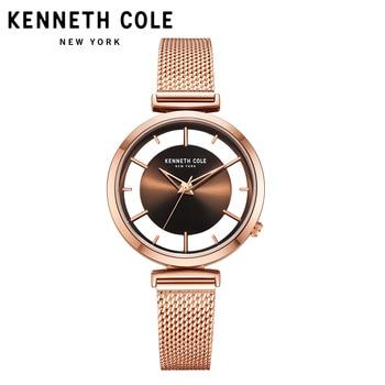 Kenneth Cole 2018 New Arrivals Womens Watches Quartz Steel Gold Silver Strap Bracelet Luxury Brand Watches KC50232004 1