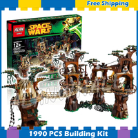 1990pcs New Space Wars Ewok Village unique Tree House 05047 DIY Model Building Blocks Kit Gifts Sets Compatible with Lago