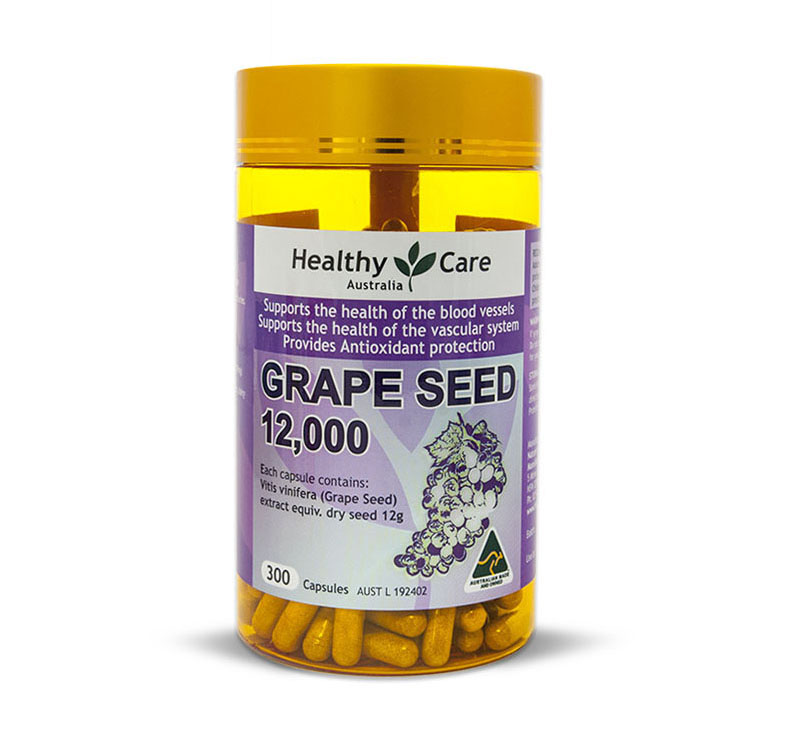Healthy Care Grape Seed Extract 12000 Mg 300 Pcs healthy learning
