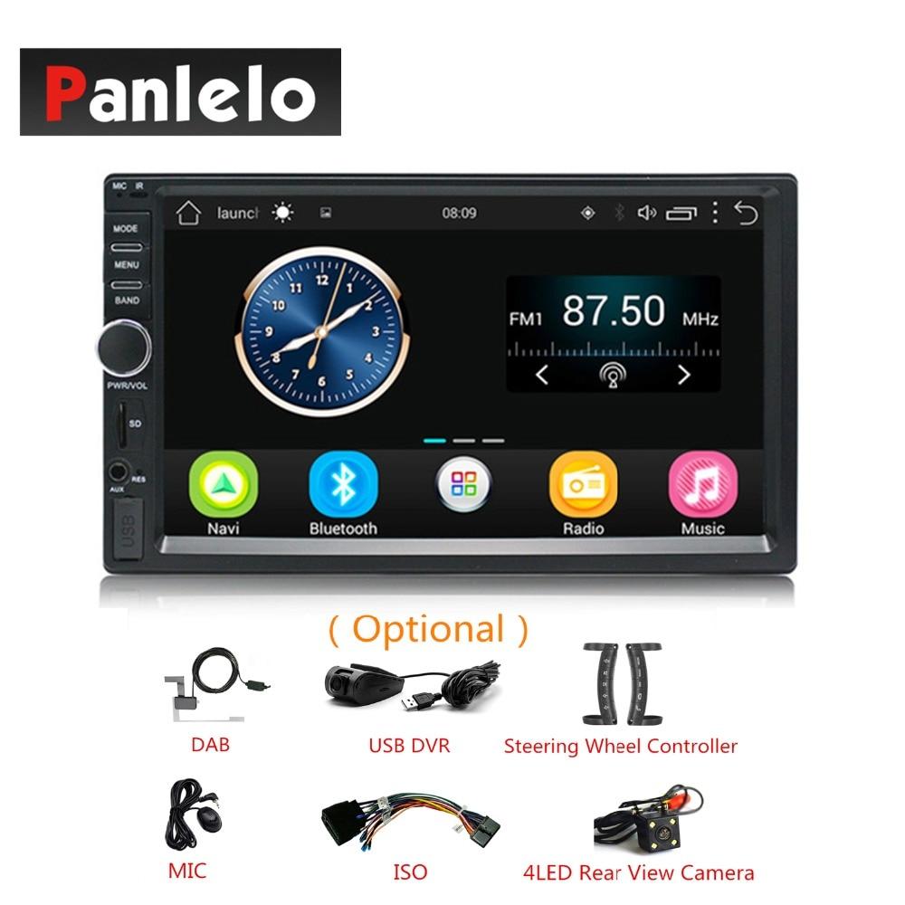 2 DIN Android Стерео gps навигации 7 ''Автомобильный видео аудио плеер AM/FM радио USB/AUX руль контроллер камера-видеорегистратор