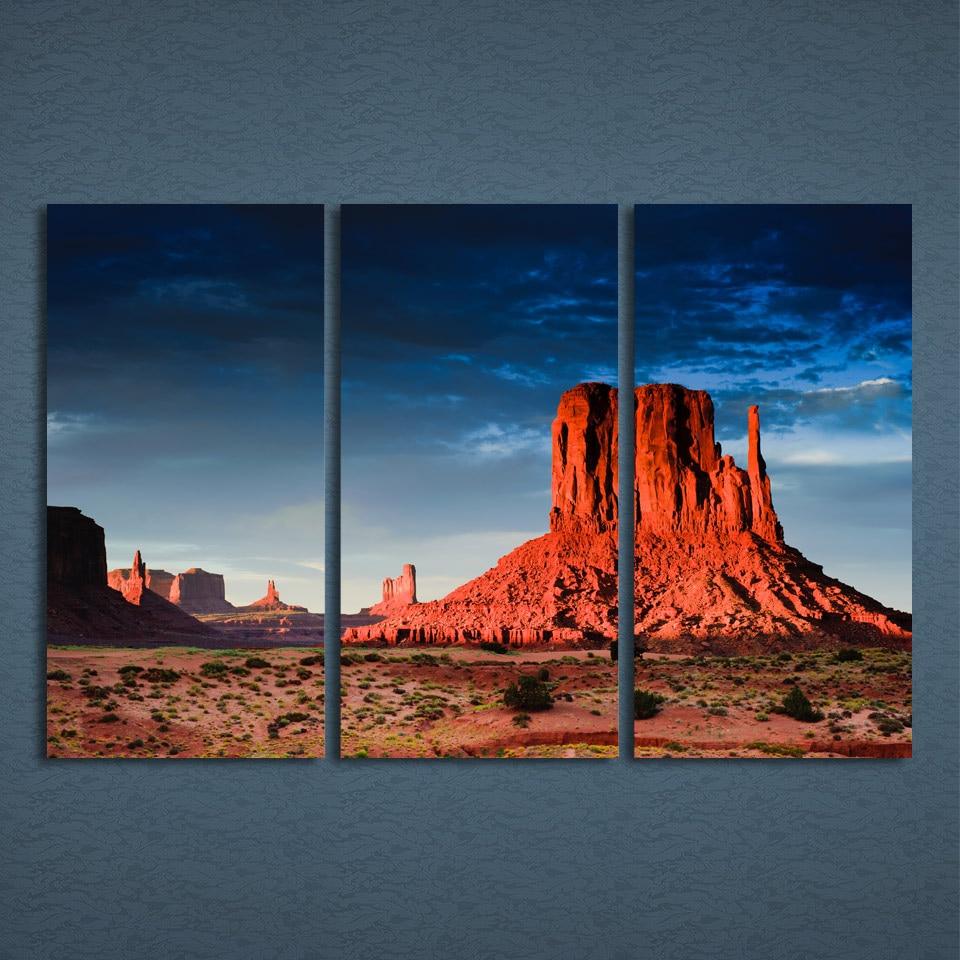 3 шт./компл. обрамленная HD печатная Scottsdale пустыня красная картина с видом скал стена отпечатанная на холсте картина декоративный постер, хол