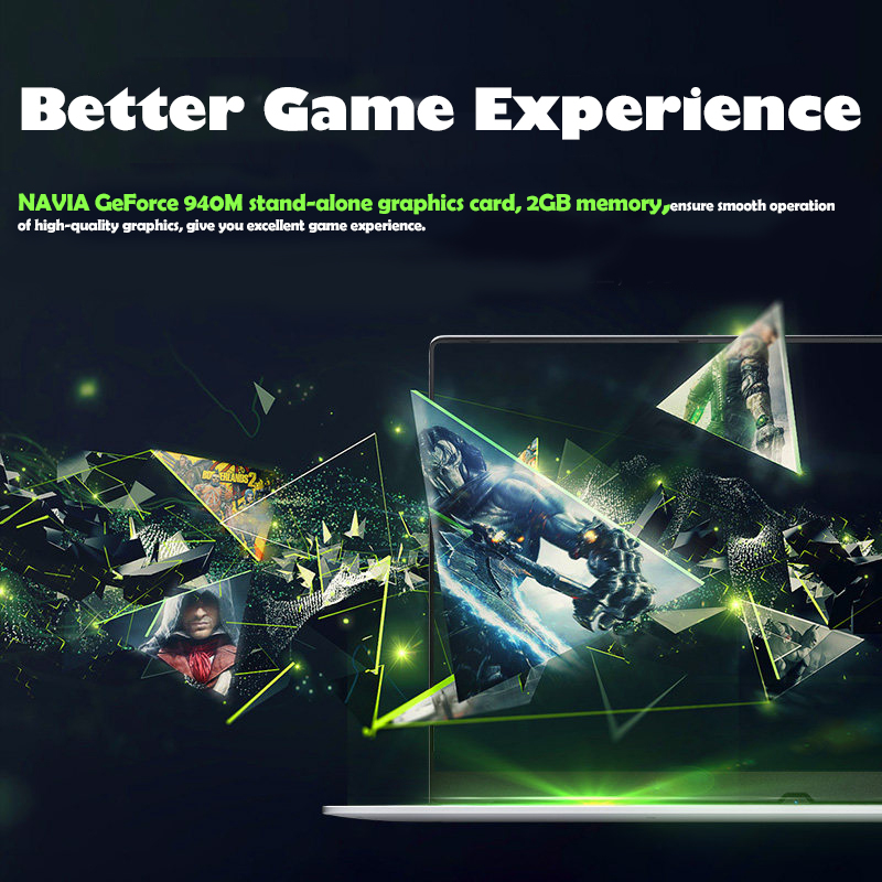 Image 3 - Gaming laptop 15.6inch Metal Body Intel i7 6500U 16GB RAM 2G Dedicated Video Card Windows 10 Notebook for Game Office Work-in Laptops from Computer & Office