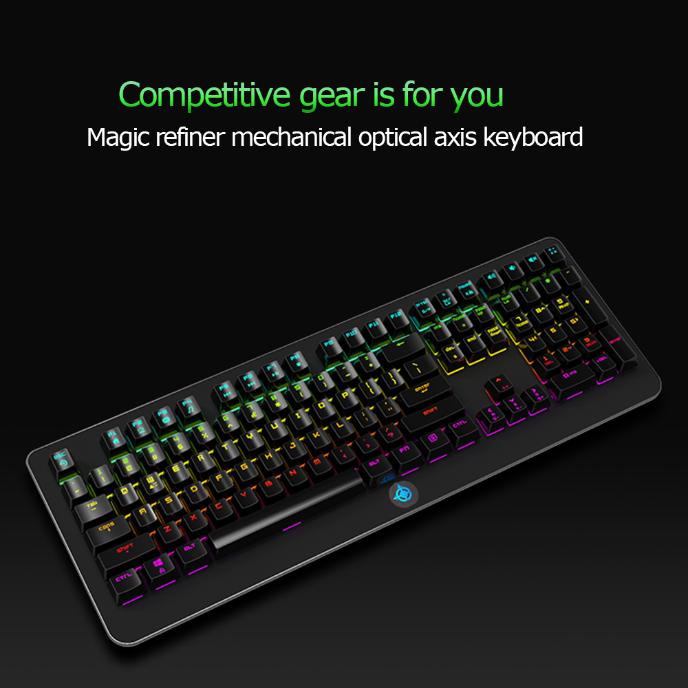 MK9 Square Keycap Computer Keyboard Professional Gaming Keyboard With Mixed Light Mechanical Keyboard Wired in Keyboards from Computer Office