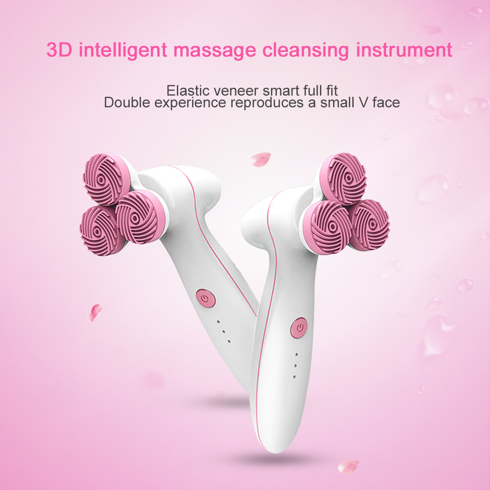 Electric Waterproof Silicone Face 3D Massage Wash Brush Facial Cleansing Vibration Face Brush Silicone Cleansing InstrumentElectric Waterproof Silicone Face 3D Massage Wash Brush Facial Cleansing Vibration Face Brush Silicone Cleansing Instrument