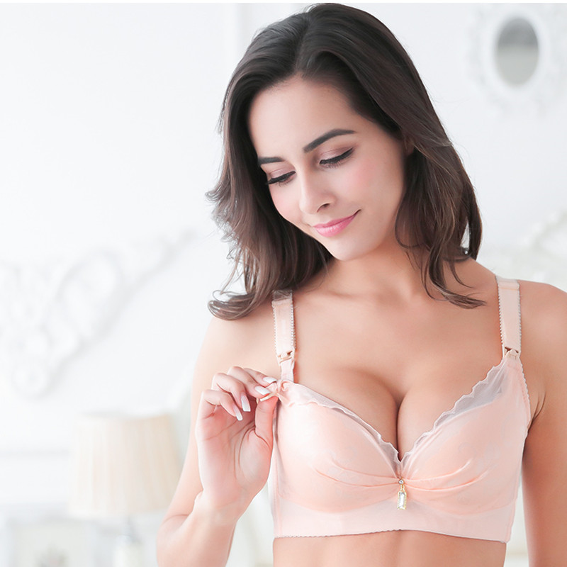 ZeeChi  Cotton Maternity Nursing Bra for Breast Feeding Front upper opening Pregnant Women Underwear clothes 9980