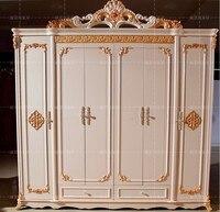 Шесть купе старинный белый европейский целый гардероб французский мебель 04