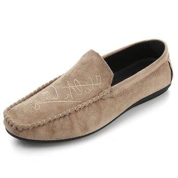 Cuero Zapatos Mocasines Hombre Para TranspirablesConducción Gamuza Casuales HombreDe n08kwOP