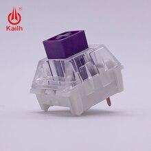 Kailh interruptores de teclado mecánico, color morado, a prueba de polvo, IP56, resistente al agua, tactil, mx stem