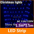 Hot! AC 110 -120V  1.5M * 1.5M LED Christmas Net Lights 96Leds String Lights for Hotel/Home/Parties/Xmas Free Shipping
