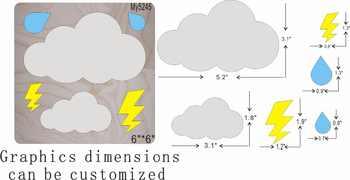 Cloud ไม้แม่พิมพ์ die ตัดอุปกรณ์เสริมไม้ die Regola Acciaio Die Misura ของฉัน - SALE ITEM บ้านและสวน