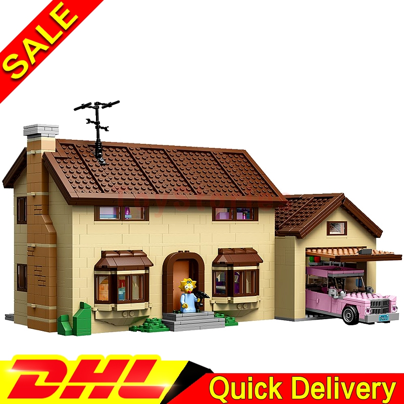 Lepin 16005 MOC Simpsons family Kwik-E-Mart Building Blocks Bricks Set Assembled legoings Toys Clone 71006