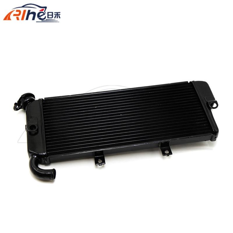 high quality motorcycle parts cnc aluminum motorycle radiator cooler black for KAWASAKI Ninja ER6N ER-6F 650R EX650 2009-2011