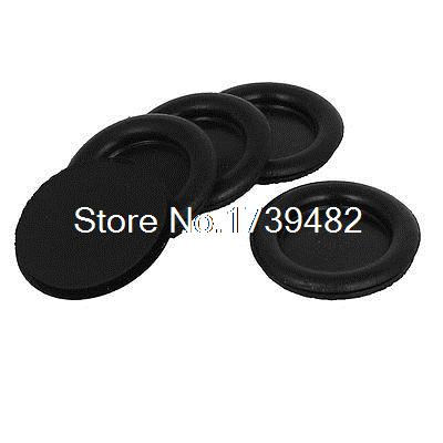 5pcs Black Rubber Closed Blind Blanking Hole Wire Cable Gasket Grommets <font><b>30mm</b></font> image