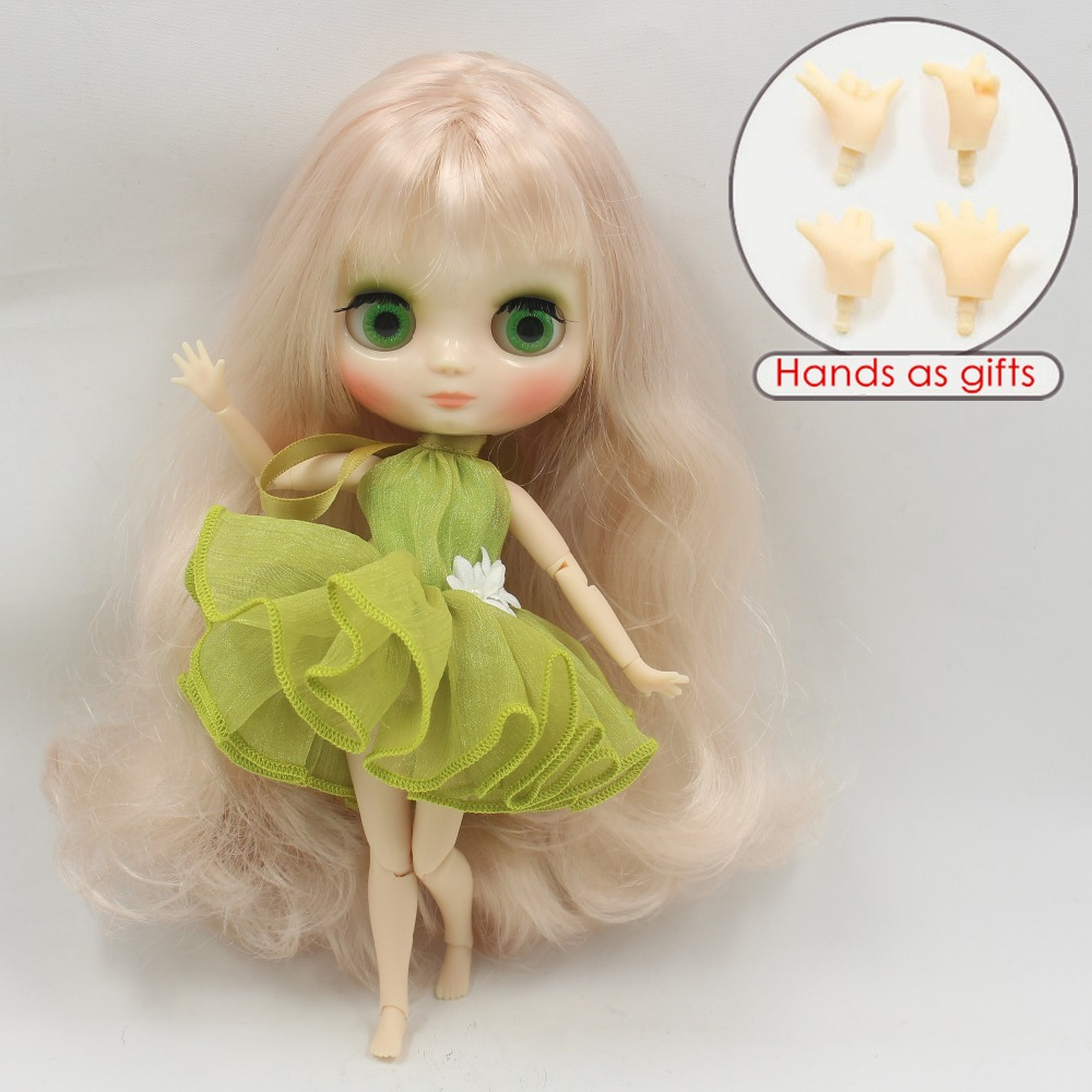 Free shipping Middie blyth Doll BL339 Blonde hair with bangs White skin joint body 1/8 20cm bjd gift toy neo цена