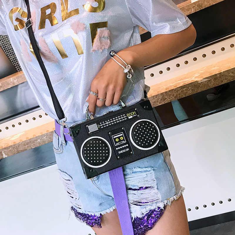 Ретро Личность Сумка для радио 2019 Новый модный тренд сумки дикий сумка
