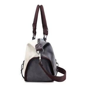 Image 3 - Kvky 女性キャンバスバッグハンドバッグ有名なブランド大容量パッチワークトートバッグヒップスタークラシックホーボーヴィンテージショルダーバッグ旅行バッグ