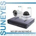 SunEyes SP-VK1821WD-E 1080 P HD 2CH Ip-камера ВИДЕОНАБЛЮДЕНИЯ NVR Комплект 1 SATA порт с Беспроводной 1 шт. пуля + 1 шт. купольная Ip-камера HD Полный HD