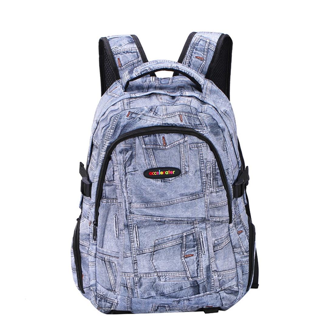 Bags for high school students - Sfg House Women And Men Denim Backpack High School Students Shoulder Bag School Bags Girls Teenagers Backpacks Casual Travel Bag