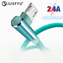 Micro USB Cable Type C Charge For 90 Degree Nylon Elbow Charger Data Charging USB cable For iPhone 7 Android Mobile Phone Cables 90 degree right double elbow micro usb male charge data cable bend left retractable spring line for samsung android mobile phone