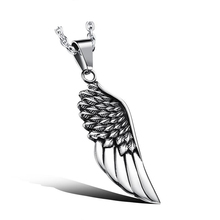 Punk Necklace Choker Men Friends Naszyjnik Chain Stainless Steel Wing Shape Pendant Necklaces Hip Hop Jewelry Corrente Masculina