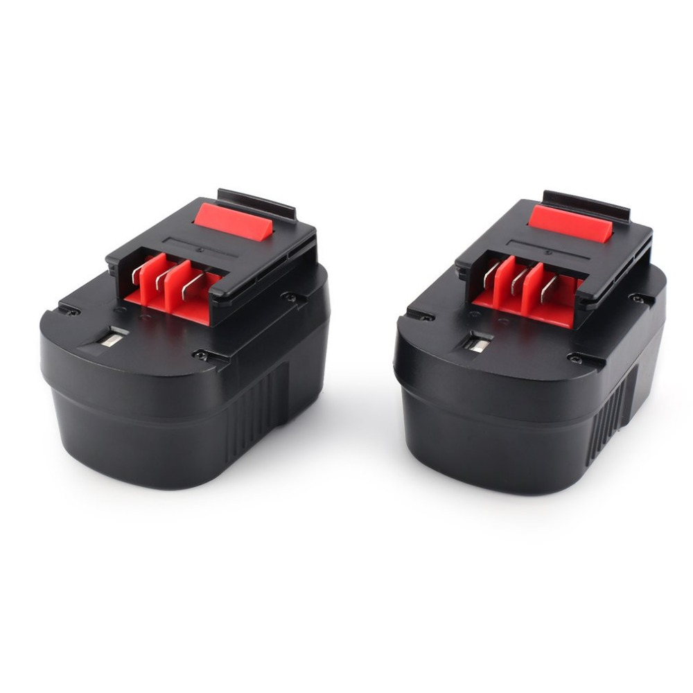 12V 3000mAh 2pcs Ni-MH Power Tool Rechargeable Replacement Battery for Black Decker Fast Charging A1714,B-8316,BD1444L,BPT104812V 3000mAh 2pcs Ni-MH Power Tool Rechargeable Replacement Battery for Black Decker Fast Charging A1714,B-8316,BD1444L,BPT1048
